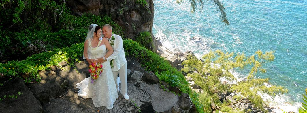 Hawaii Waterfall Weddings | Maui Weddings The Gardens Waterfall Wedding