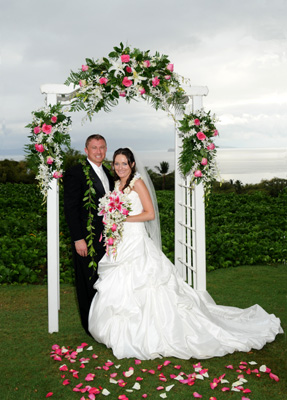 Archways at your wedding in Maui