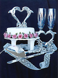 Dolphin Heart Wedding Set