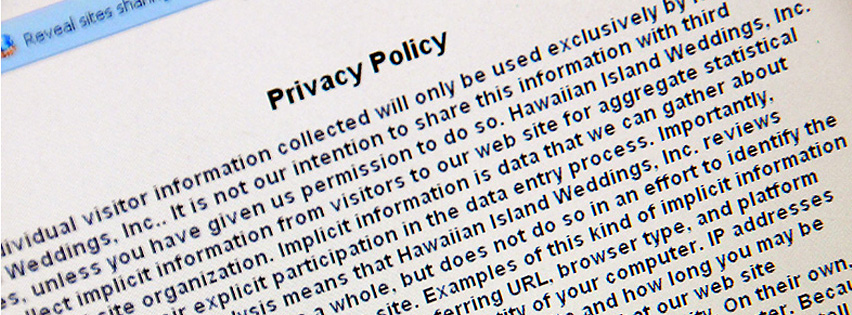 Hawaiian Island Weddings Privacy Policy
