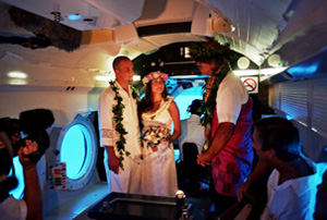 Hawaiian Island Weddings Submarine Maui Wedding