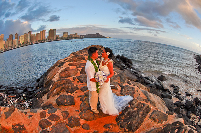 This Is The Most Popular Location For Our Waikiki Weddings World Famous Diamond Head Volcano Plus Will Be In Your Romantic Background