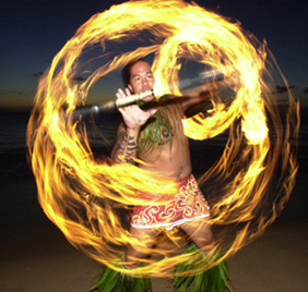 Te Au Moana Luau Fire Dancer