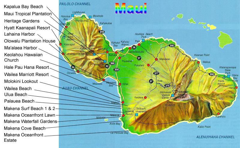 Maui Hotels Map Rouydadnews Info