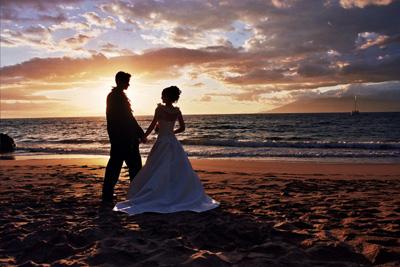 Kauai Romantic Sunset Wedding Kauai Weddings Offers